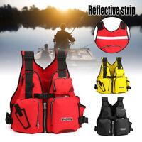 Adjustable Buoyancy Aid Reflective Sailing Kayak Canoeing Fishing Life Jacket