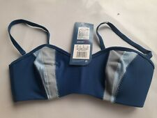 Speedo 34 D swim Bikini Bra Top Blue Cannes New Tags with matching bottoms