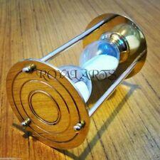 Sammlerstück Aluminium Sanduhr Patina Finish nautisch dekorative Sanduhr