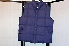 LANDS'END NICE BLUE DOWN FILLED VEST MENS SZ L 42-44 EUC