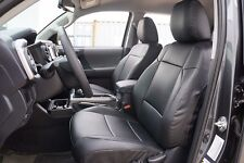 TOYOTA TACOMA 2016- BLACK LEATHER-LIKE CUSTOM MADE FIT FRONT SEAT COVER