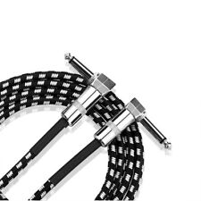 """Electric Guitar Amp Cable Lead Instrument Audio 6.5mm 1/4"""" Male M/M 10ft 3M 90°"""