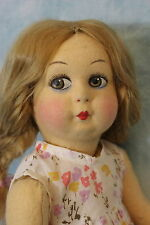 15 inch All Felt Lenci Wannabe, hand painted face, clean, dressed HH Wig !