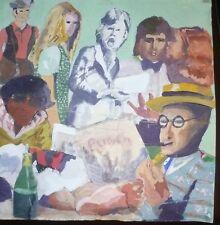 Original pop art painting from the 1970s unframed