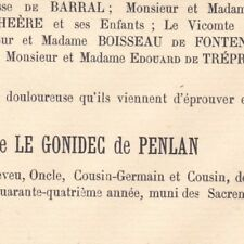 Marie Carl Ignace Le Gonidec De Penlan Ablon 1890