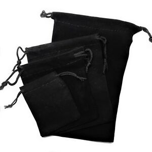 New Black Velvet Drawstring Jewelry Gift Bags Pouches Wedding Hot Sale 2017