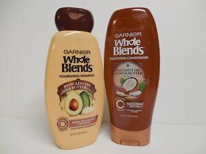 Garnier WHOLE BLENDS Set ~ AVOCADO OIL & SHEA BUTTER ~ COCONUT OIL & COCOA ~ NEW