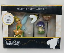 Disney Tinkerbell 4 Pc Miniature Statuaries Garden Fairy Kit Mini New