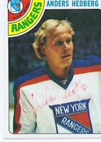 Anders Hedberg 1978 Topps Autograph #25 Rangers