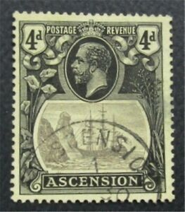 nystamps British Ascension Stamp # 15 Used $120  O22x1698