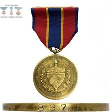 #8673 US ARMY OCCUPATION OF CUBA MEDAL WRAP BROOCH NUMBERED 1938 NORTHERN