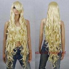 Wigs,Fairy Tail Mavis·Vermilion, blonde Long  Ondulé animation Cosplay fête