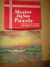 Vintage Wooden Master Jigsaw PuzzleOcean Sunset complete