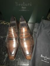 BERLUTI Andy 10.5 (US 11.5) Terre Sauvage Bourbon bis Cracked Leather RP $2,140