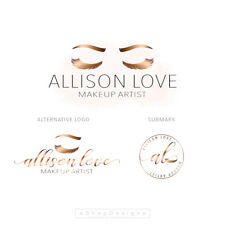 MAKEUP ARTIST Branding Kit | Logo, FB Page, Business Card Design | Brow & Lashes