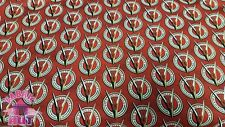 Old Guys Rule Red Classic Hot Rod V8 Logo Cotton Fabric By The Yard