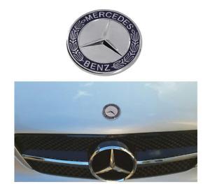 57mm for Mercedes Benz Blue Silver Front Hood Bonnet Badge Emblem Decal Logo