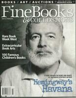 Lot of Three Issues Fine Books and Collections Magazines 2015 Hemingway Ephemera