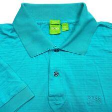 Hugo Boss Modern Fit Green Short Sleeve Cotton Tennis Golf Polo Shirt - Mens XL