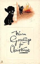 POSTCARD   GREETINGS   CHRISTMAS  CATS  Related      Tuck