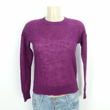 MARC O'POLO Pullover Mohair Wolle Strick Knit Lila Gr. XS 34