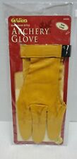 Allen Damascus Style Archery Glove Size LARGE L 3-Finger Gold Leather 60532