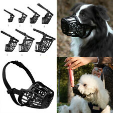 Plastic Basket Pet Dog Muzzles Cage Anti-biting With Adjustable Straps