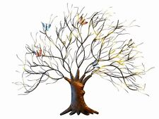 Tree With Butterfly Metal Wall Art Sculpture Decor