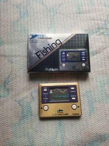 Gakken LCD Card Game Fishing + Box! Working!