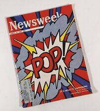 """Roy Lichtenstein Original Newsweek Magazine  Lichtenstein """"Pop"""" April 25 1966"""
