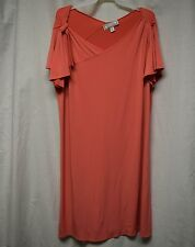 Womens Dress Size XL By Simonton Says Peach Formal Pull Over Short Sleeves