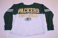 Youth Girls Green Bay Packers Girls M (10/12) 3/4 Sleeve Glitter Short Shirt NFL