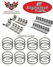 ENGINETECH CHEVY BBC 427 454 ROD AND MAIN BEARINGS WITH PISTON RINGS 1970 - 1990