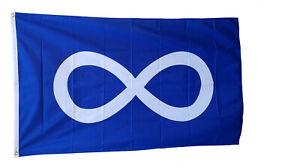 Blue Métis Flag Drapeau Métis Bleu Full Size Étchiboy