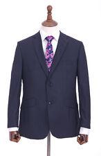 Men's Blue Check Suit Regular Fit Alexandre Of London Queens Tailors 50R W42 L31
