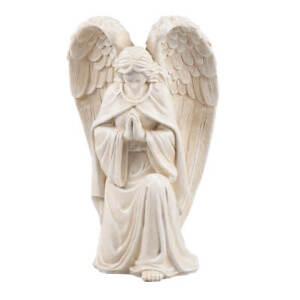 WalterDrake Resin Angel Statue - Religious Garden Statue Remembrance Memorial