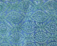 Fabric Sanganeri Running Hand Block Print Pure Cotton 3 Yard Indian Turquoise