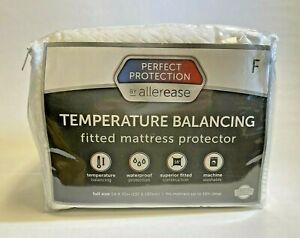 Perfect Protection Temperature Balancing Mattress Protector White Full Size