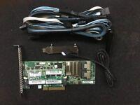 HP G8 Smart Array P420 1GB FBWC 6Gb SAS Controller + 8087 SATA Cable Battery