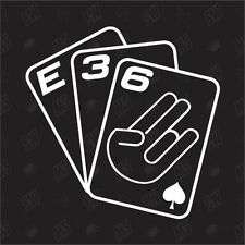 Playing Cards E36 - Tuning Sticker , Fun Sticker Decal, Cards