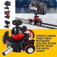 For Nikon Canon DSLR Vlog LENSGO Camera Video Track Dolly Motorized Slider Motor