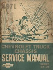 1971 Chevrolet Truck series 40-60 ~ Original GM Factory Chassis Service Manual