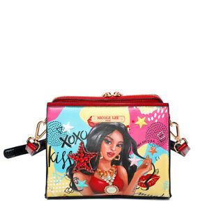 Nicole Lee RUE DE PARIS Handbag Purse Shopper W Adjustable Strap