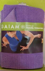 Yoga Towel Non Slip Mat Purple Microfiber Gaiam New in Package Exercise Fitness