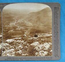 Stereoview Photo Palestine Gerizim And Hills Of Southern Samaria Sychar Mt Ebal
