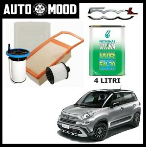 Kit Tagliando Fiat 500L 500 L 1.3 Multijet D EURO 5 + 4 Llitri Selenia 5W30