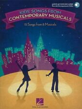 Kids' Songs From Contemporary Musicals (Book/Online Audio)