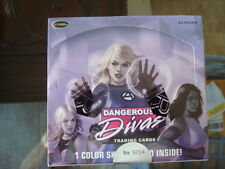 Marvel Dangerous Divas SERIES 1 Factory Sealed  Case  of 12  Sketch in EVERY BOX
