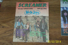 SCREAMER magazine - LA / Hollywood legendary, rare Rock magazine******