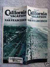 1920's California & San Francisco Vacation Brochure